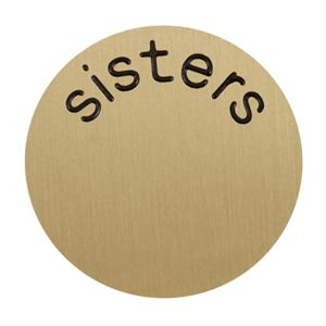 Picture of 'Sisters' Large Gold Coin